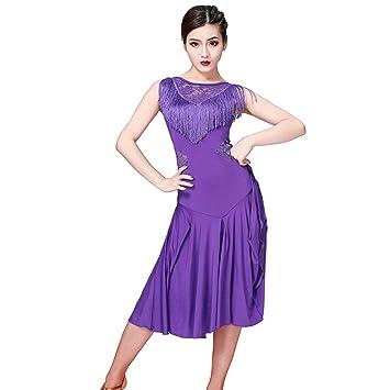 61b171d8de3c5 Loveablely Femmes Robe Latine Salsa Rumba Tango Châ Châ Châ Costume ...