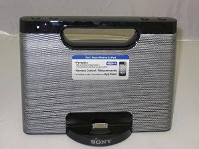 Sony RDPM7IP 30-Pin iPhone/iPod Portable Speaker Dock (Silver)
