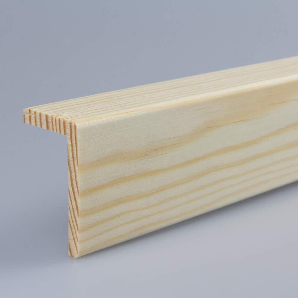 Winkelleiste Schutzwinkel Winkelprofil Tapeten-Eckleiste Abschlussleiste Abdeckleiste aus Kiefer-Massivholz 2400 x 18 x 18 mm