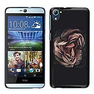 // PHONE CASE GIFT // Duro Estuche protector PC Cáscara Plástico Carcasa Funda Hard Protective Case for HTC Desire D826 / Dark Meaning Deep Black Vignette /