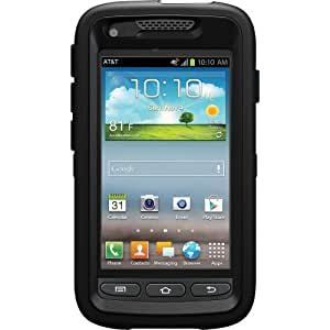 Otterbox 7726468 Defender Series for Samsung Galaxy Rugby Pro/Galaxy Rugby Lte - Retail Packaging - Black