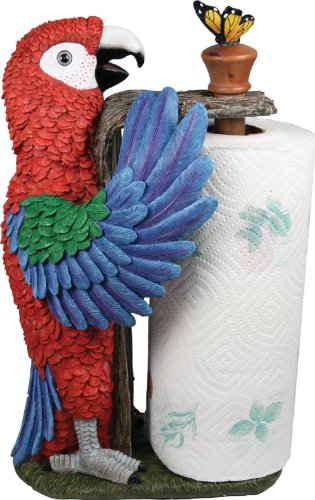 Standing Parrot Paper Towel Holder Paper Towel Shelf