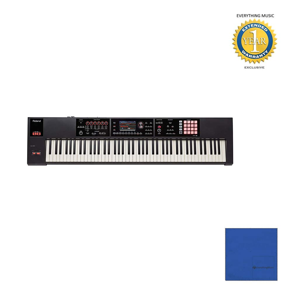 Roland 88-key Weighted-action Music Workstation (FA-08) with Microfiber and 1 Year Everything Music Extended Warranty by Roland
