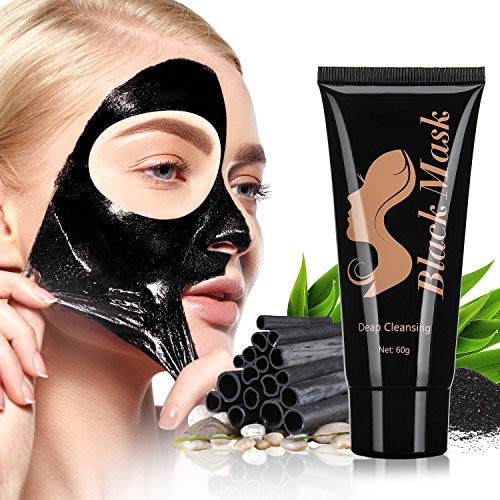 Price comparison product image Blackhead Peel Off Mask [Removes Blackheads] - Purifying Quality Blackhead Remover Charcoal Mask - Best Mud Facial Mask 60g Pack of 1 (Black) - by ENGIVE