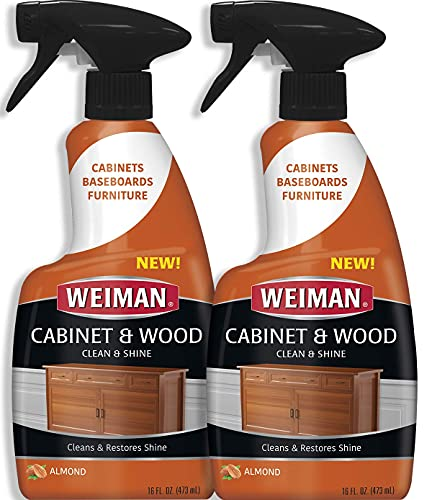 Weiman Furniture Polish & Wood Cleaner Spray - 16 Ounce (2 Pack) Condition Your Cabinet Doors Table Chairs and More