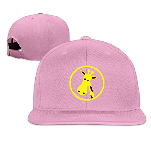 Unisex Giraffe Circle Clipart Adjustable Snapback Baseball Cap Pink One Size (Pink Roses Clipart)