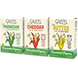 Quinn Snacks Popcorn Variety Pack (Butter & Sea Salt, White Cheddar, and Parmesan & Rosemary {3 Pack}