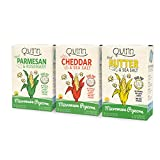 Quinn Snacks Microwave Popcorn Variety Pack (Butter & Sea Salt, White Cheddar, and Parmesan &...
