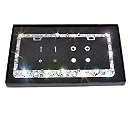 Crystal Bling License Plate Frame with Crystals