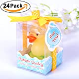 AiXiAng Cute Mini 24 Pcs Cute Duck Style Handmade Smokeless Scented Candle Guests Keepsake Gift for Baby Shower Favors