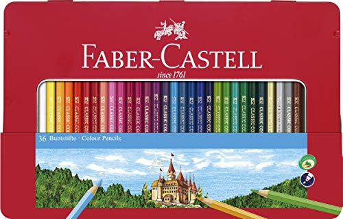 Creativity for Kids Faber Castell Classic Colored Pencils Tin Set, 48 Vibrant Colors in Sturdy Metal Case - Premium Children's Art Products by Creativity for Kids (Image #6)