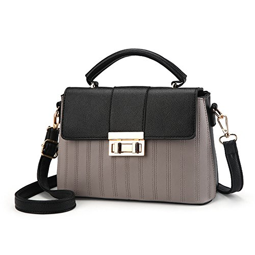 Sac Black Women'S Simple Gris New Flip Messenger À Meaeo Bag Bandoulière qxwdWAYv