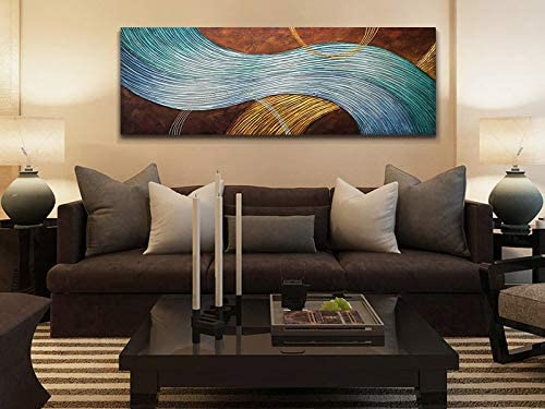Amei Art Paintings,16x32Inch 3Piece 100/% Hand-Painted Abstract Stained Feather Oil Paintings on Canvas Modern Simple Artwork Home Decor Wall Art Wood Inside Framed Ready to Hang
