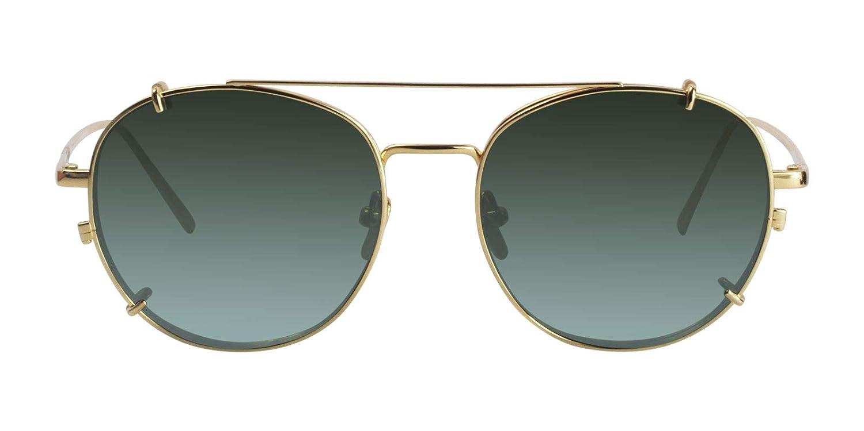 Amazon.com: Linda Farrow LFL646 - Gafas de sol doradas y ...