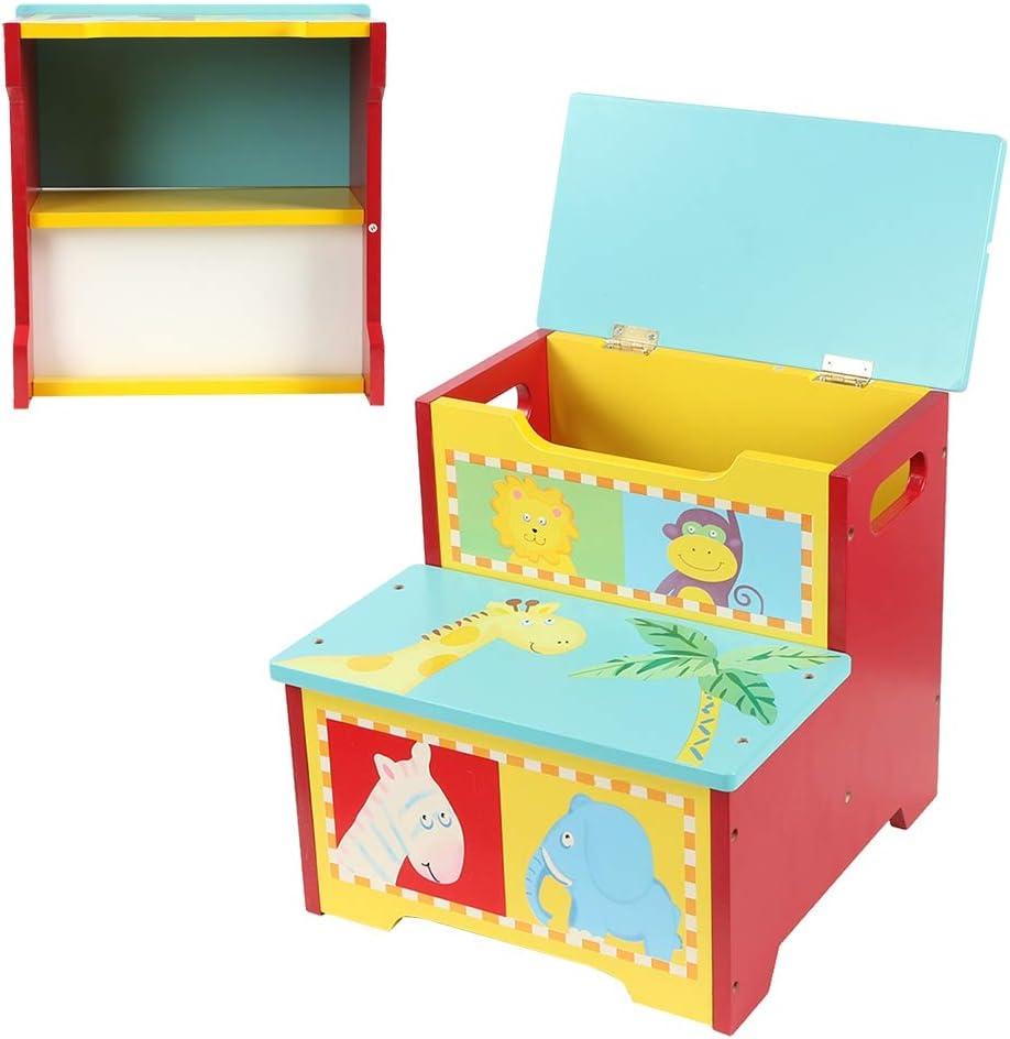 Spielzeugkiste, Trittleiter Aufbewahrungshocker Truhenbank