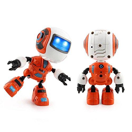 電子RCロボット学習おもちゃ–cmrtew Sensingタッチ多機能音楽スマートミニ合金ロボットfor Kids Girls Boys オレンジ