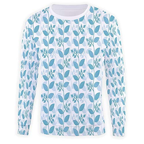 iPrint Mens Womens Unisex 3D Printed,Light Blue,Pattern Plus Size Hoodied SWE -