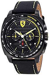 Ferrari Men\'s 0830165 Aero Evo Analog Display Quartz Black Watch