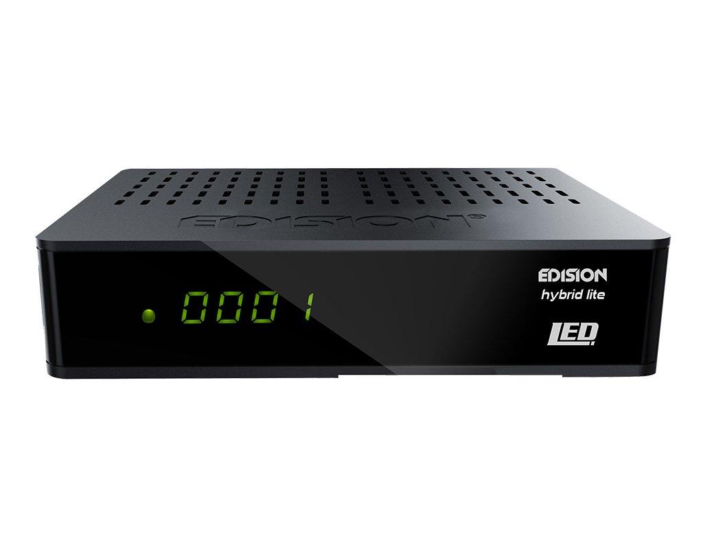 noir Edison Progressive Hybrid LED R/écepteur c/âble DVB-C pour la t/él/évision par c/âble num/érique Full HD, HDMI, p/éritel, S // PDIF, USB, Internet, affichage, WiFi en option