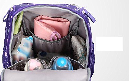Hombro bolsa de la madre multi-funcional de gran capacidad de la mochila de la madre impermeable a salir mujeres embarazadas a ser madre en el paquete de ley ( Color : Purple ) Azul zafiro