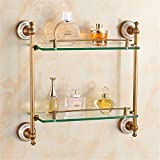 LAONA European style all copper antique drawing ceramic base, bathroom pendant set, toilet paper rack, towel rod,Rack 2