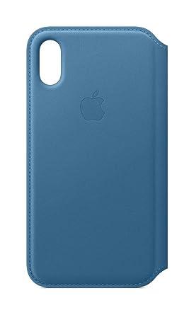the latest 0f78f 1cb8e Apple Leather Folio (for iPhone Xs) - Cape Cod Blue