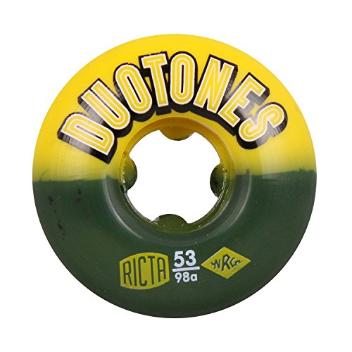 RICTA SKATEBOARD WHEELS Duo Tones 53mm Electros 98a (4 Pack) ()