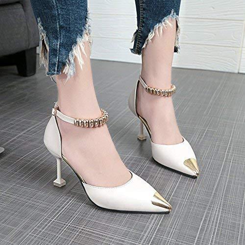 Des Chaussures Hauts Bien Avec Pour Hhgold Red39 Ont Pointe Mode The Femmescoloré35Taille Sandales Souligné À Talons De Sauvage Les Filles La qVGSzMpU