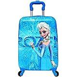 GOCART Polycarbonate 45 Cm Blue Frozen Pattern Hard Side Children's Luggage