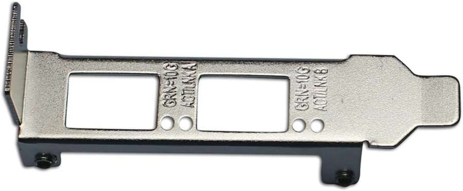 Generic Low Profile Bracket for Intel E10G42BTDA X520-DA2 E10G42BFSR X520-SR2
