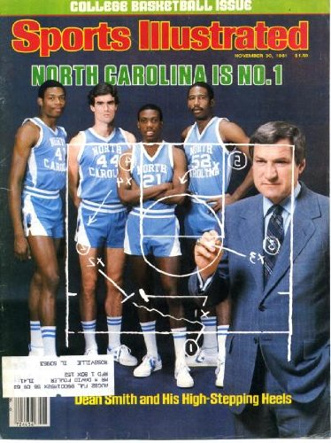 Sports Illustrated November 30 1981 Dean Smith/North Carolina Tar Heels on Cover (North Carolina is #1), Richard Todd/New York Jets, University of Washington Going to Rose Bowl, Dominique Wilkins/Georgia Bulldogs
