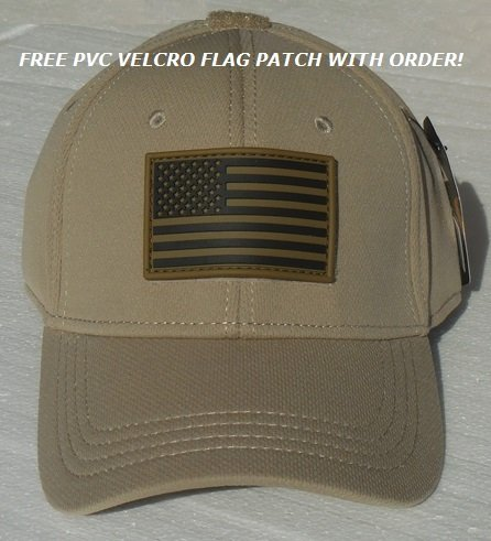 Condor Flex Tactical Cap (Tan, S/M) + 2 FREE Velcro Flag Patches