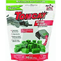 Motomco 22486 Tomcat Refillable Tier 1 Mouse Bait Station 1-Ounce 16-Pack