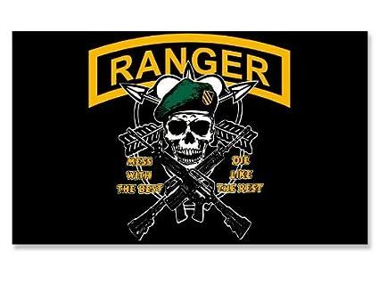 Amazon Us Army Ranger Skull Airborne Flag Sticker Automotive