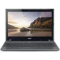 Acer 11.6 HD Display Chromebook (Intel Dual Core Celeron 1.1Ghz CPU, 4GB RAM, 16GB SSD, Intel HD Graphics, Webcam, HDMI, VGA, WIFI, RJ45, 1 Thin, Chrome OS) (Certified Refurbished)
