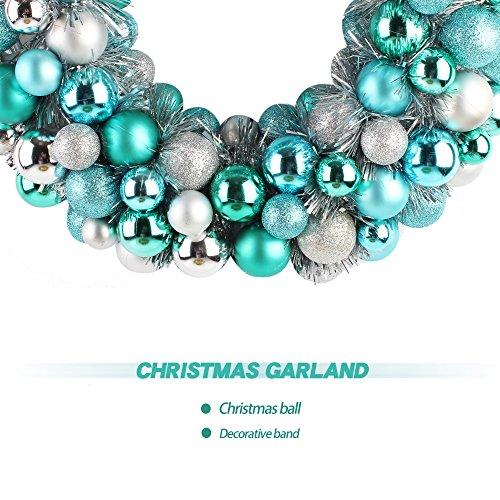 """Jusdreen 16"""" Christmas Wreath Ball Ornaments Shatterproof"""