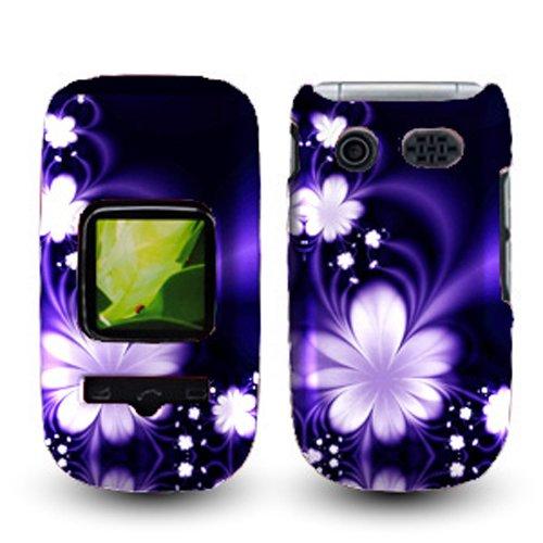 For ATT Pantech Breeze III P2030 Accessory - Blue Flower Design Hard Case Cover + Lf Stylus Pen (Pantech Breeze Phone Cover compare prices)