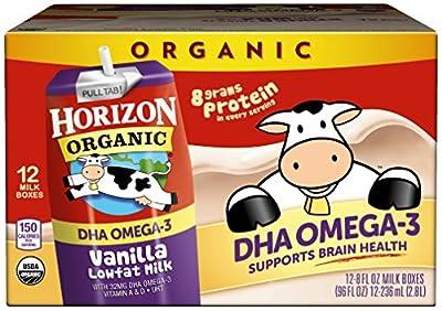 Horizon Organic Low Fat Organic Milk Box Plus DHA Omega-3