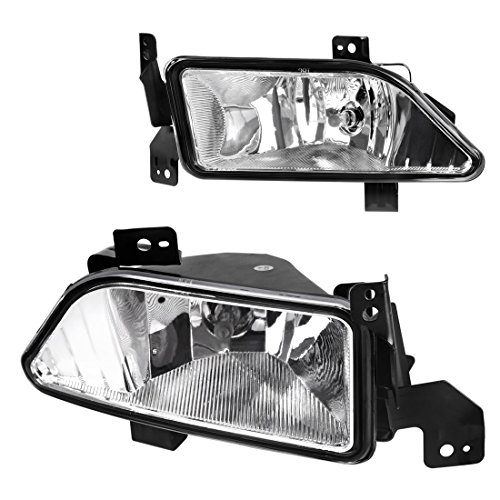 AUTOSAVER88 Fog Lights H11 12V 55W Halogen Lamp For Honda Pilot 2006 2007 2008 (Clear Lens w/Bulbs)
