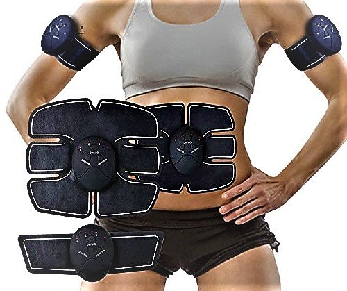 ABDOMINAL TRAINING MUSCLE UNISEX -Portable Smart EMS Abdominal Fitness Gear Exerciser Stimulating Intensive Toning