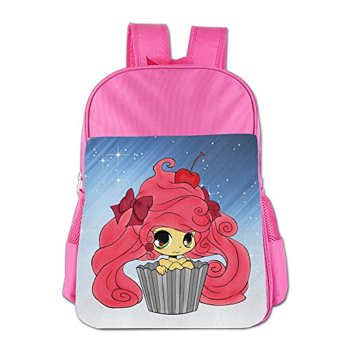 Ongshuquwe Cupcake Girl Leisure Children Cute Cartoon Schoolbag Pink