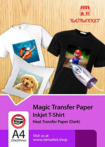 Iron on Transfer Paper for Dark Fabric (Magic Paper) by Raimarket | A4...