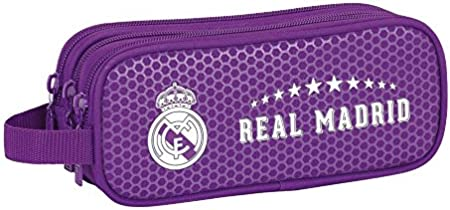 Real Madrid FC Estuche portatodo Triple, 2ª equipacion Temporada 2016/2017 (SAFTA 811677635), Uacutenica: Amazon.es: Juguetes y juegos