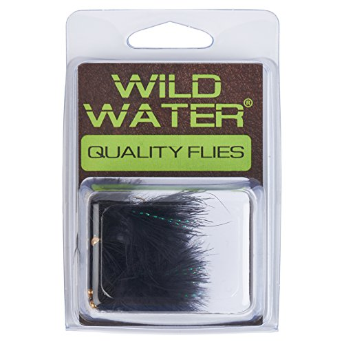 Wild Water Bead Head Black Wooly Bugger, Size 10, Qty. 6