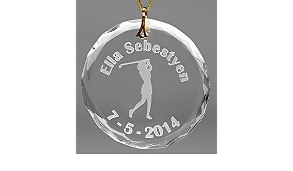 Amazon.com: Personalized Glass Christmas Golf Ornament-Female: Sports & Outdoors