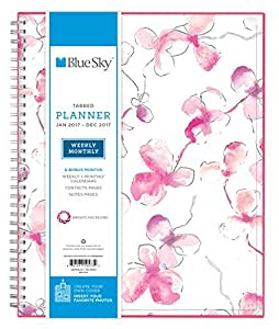 """Blue Sky 2017 Weekly & Monthly Planner, Wire-O Binding, 8.5"""" x 11"""", Orchid (19573)"""
