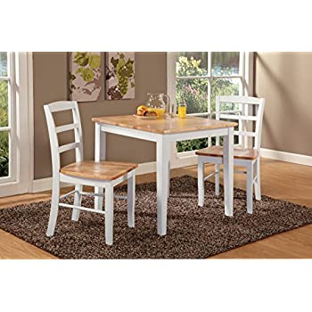 International Concepts 30 by 30-Inch Dining Table with 2 Ladder Back  Chairs, Set