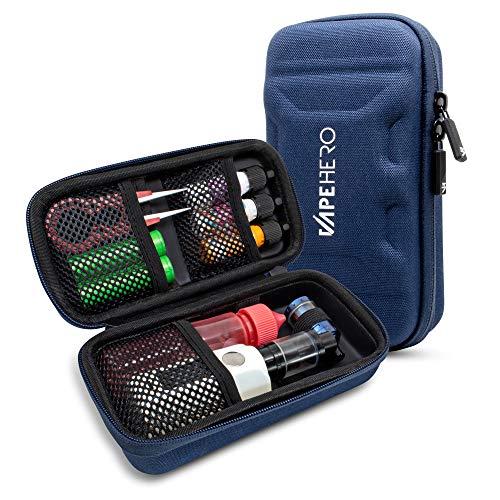 VapeHero® L E-Zigarette Tasche | Dampfer Etui für max. 80ml Liquid und Zubehör | Passend für große Mods | Stoßfest…
