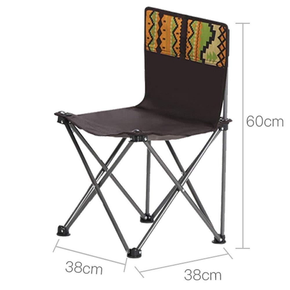 Fournitures de camping portatives en plein air Chaise pliante en plein air petit portable chaise de plage de camping chaise de pêche tabouret peinture train tabouret Table et chaise pliante en plein a Marron A chair