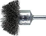 PFERD 82929 Stem Mounted Specialty Wire Brush, Carbon Steel Wire, 2'' Diameter, 1/4'' Stem Diameter.010 Wire Size, 14000 Max RPM (Pack of 10)
